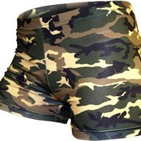 Gem Gear Compression Green Camouflage Shorts