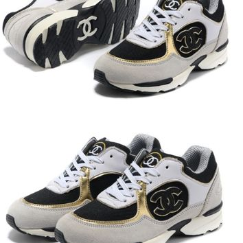 Indie Designs Chanel Inspired Classic Running Sneakers