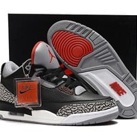 "Air Jordan 3 III ""Black Cement"""