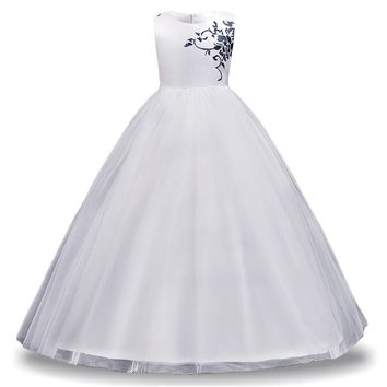 LZH Kids Bridesmaid Wedding Flower Girls Dresses For Girls Princess Dress Children Party Dresses Teenage Girls Clothing 12 Year