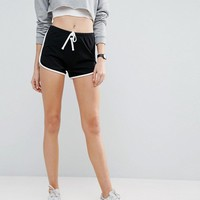 ASOS TALL Basic Runner Shorts with Contrast Binding at asos.com