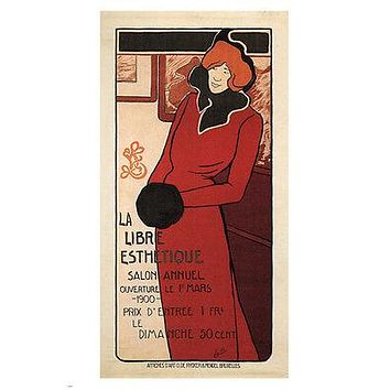 Free Aesthetic Vintage Ad Poster Léo Jo Belgium 1900 24X36 Collectors Rare