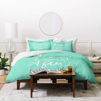 Lisa Argyropoulos Happily Ever After Aquamint Duvet Cover