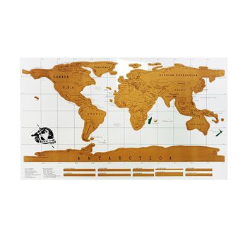 Scratch Map Travel 88x52cm Wall Sticker Traveler Log National Geographic Scratch Off Personalized World Map Vintage Poster