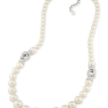 Carolee Silver-Tone Imitation Pearl Necklace