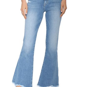 Flying Monkey High Rise Frayed Flare Jeans