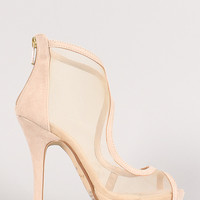 Anne Michelle Verdict-81 Mesh Cut Out Stiletto Heel
