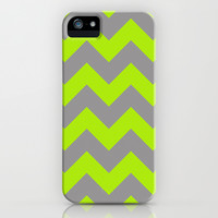 Chevron Lime iPhone & iPod Case by Alice Gosling