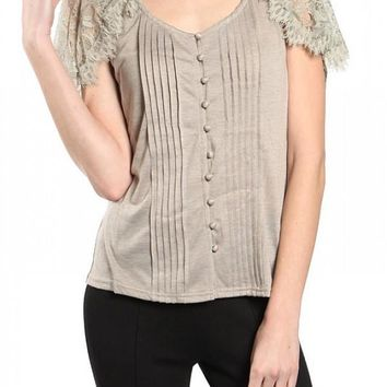 Lillith Lace Short Sleeve Boho Top