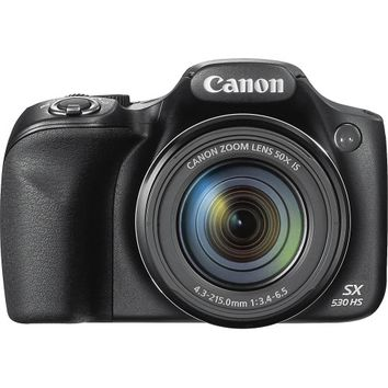 Canon - PowerShot SX530 HS Digital Camera - Black
