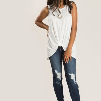 Emmy Ivory Knot Front Top