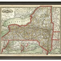 One Kings Lane - Family Roots - State Map of New York