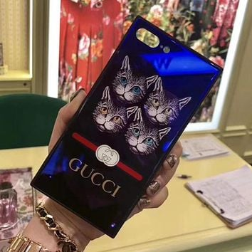 GUCCI Fashion iPhone Phone Cover Case For iphone 6 6s 6plus 6s-plus 7 7plus 8 8plus X