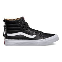 Vans Leather SK8-Hi Slim Zip (black/leopard)