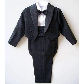 Boys suits for weddings Kids Prom Suits Black/White Wedding Suits for Boys Tuxedo Children Clothing Set Boy Formal Costume