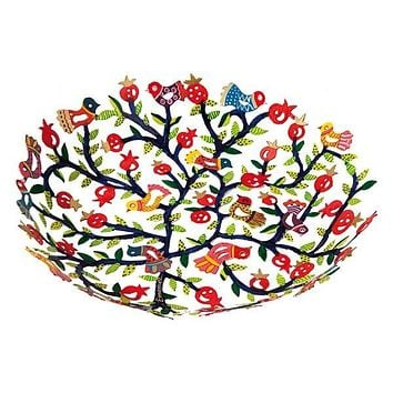 Bowl - Laser Cut + Hand Painted - Pomegranates
