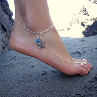 Starfish Anklet - A great accessory for your favorite heels / Customizable, Available in Gold or Silver