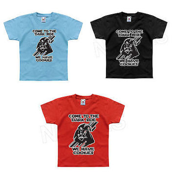 Come To The Darkside We Have Cookies Funny Kids T-Shirt 1-2 to 12-13 Years