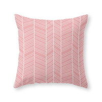 Society6 Herringbone Love Throw Pillow