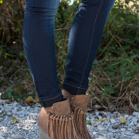 The Zepp Wedge Bootie - Tan