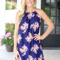 Fluent in Love Dress - Navy