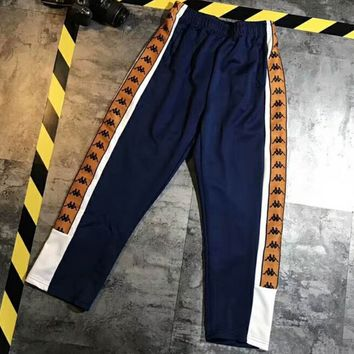 KAPPA 2018 spring and summer counter three color string simple retro pants F-XMCP-YC