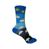 How's the Weather? Crew Socks in Blue