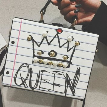 Girl Power Queen Box Handbags
