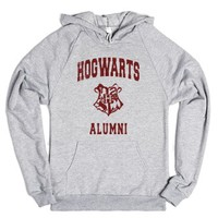 Hogwarts Alumni-Unisex Heather Grey Hoodie