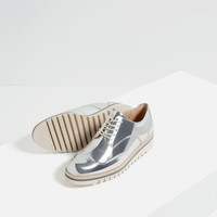 FLAT SHOES WITH BROGUE DETAIL - View all-SHOES-WOMAN | ZARA United Kingdom