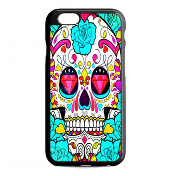 Skull Flowers For iphone 6 case