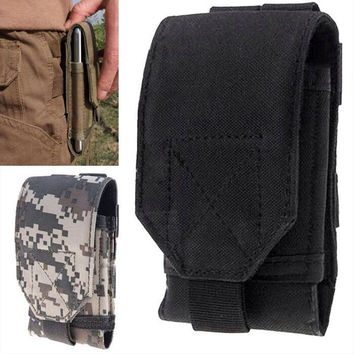 Discovery V9 Case Outdoor Army Camo Camouflage Phone Bag Hook Loop Belt Pouch Holster Cover For NO.1 UMI Plus Blackview BV5000