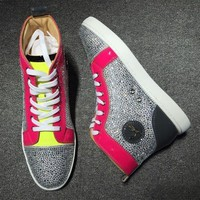 DCCK2 Cl Christian Louboutin Rhinestone Style #1931 Sneakers Fashion Shoes