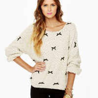Cute Cream Sweater - Sparkle Sweater - Oversized Sweater - $40.00
