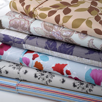 Bibb Home Soft Double Brushed Microfiber Printed Bed Sheets 4 Piece Set - 6 Designs