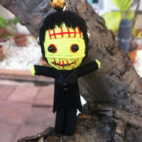 Frankenstein Voodoo String Doll Funny Keyring Keychain Key Ring Key Chain Bag Car phone chain charm men