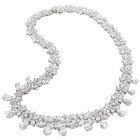 Classic Diamond Wreath Necklace set in platinum