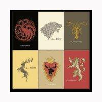 Game of Thrones Distressed House Sigil Magnets [Set of 6]