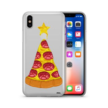 Pizza Cheesemastree - Clear TPU Case Cover Phone Case