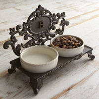 GG Collection Personalized Pet Bowl Holder - Horchow