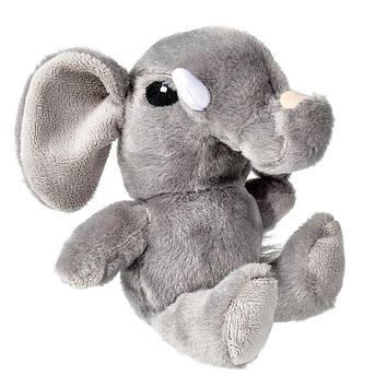 6 Inch Small Elephant Stuffed Animal Safari Plush Toy for Baby Floppy Zoo Babies
