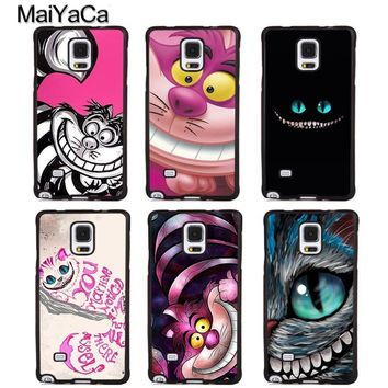 MaiYaCa Cheshire Cat Alice in Wonderland Phone Case For Samsung Galaxy S5 S6 S7 edge plus S8 S9 plus Note 4 5 8 Back Coque Cover