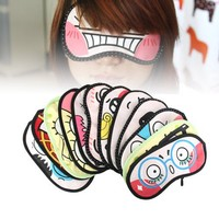 Silly Face Sleeping Funny Novelty Eye Cover (Random)