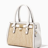 Mini Lady Straw Lockbox Satchel | Handbags | charming charlie