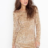 Gabby Sequin Dress in  Clothes at Nasty Gal