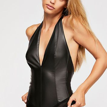 Living In Leather Bodysuit