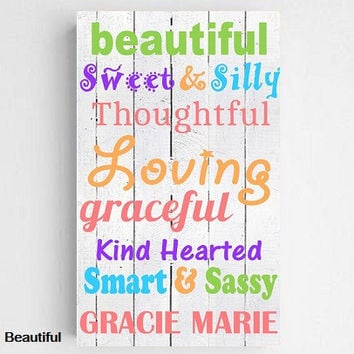 Colorful Kid's Canvas Sign