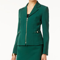 Tahari ASL Zip-Front Blazer - Suits & Suit Separates - Women - Macy's