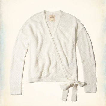 Girls Wrap Front Sweater | Girls Tops | HollisterCo.com