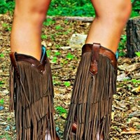 Little Miss Honky Tonk Fringe Boots